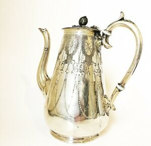 Antique C1820 Georgian English Sheffield Silver Plate Coffeepot Or Tall Teapot