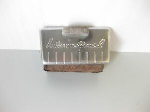 1950s 1960s 1940s International Truck Stainless Ashtray With Script 1945 1953 59