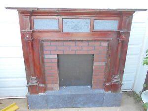Wood Fireplace Mantel 66x65x14 Wooden Mantle Shelf Decor Piece Craftsman Style