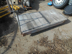 Vintage Industrial Factory Warehouse Dolly Railroad Cart Coffee Table Wood Look