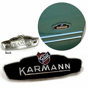 Vw Karmann Ghia Bat Ear Style Side Badge New 1956 1959 All Ghias Lowlight
