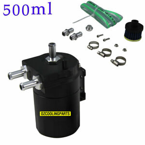 500ml Cylinder Aluminum Engine Oil Catch Reservoir Breather Tank Can Filter