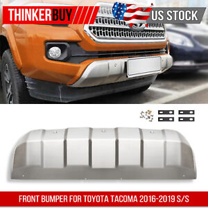 Stainless Steel Front Bumper For Toyota Tacoma 2016 2019 Valance Panel Us Stock