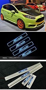 Ford Fiesta 09 15 Sill Door Led 4pcs Chrome Nikel Protector Trim Rare Cover