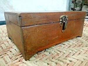 Antique Chest Cash Jewelry Wooden Box Storage Rare Old Germany