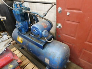 Quincy Model 325 Air Compressor With Lincoln 5hp Motor Tank Needs Repaired