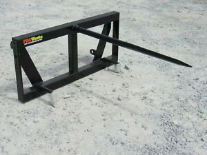 Global Quicke Euro Loader Attachment Low Back Round Hay Bale Spear Ship 179