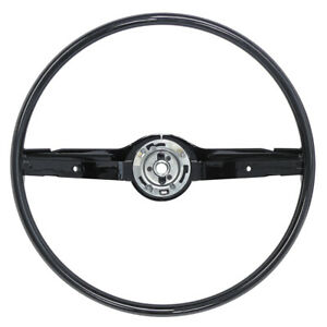 New 1968 69 Mustang Steering Wheel 2 Spoke 16 Fairlane 68 70 Falcon Black Ford