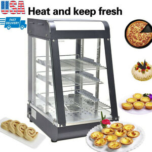 15 commercial Food Warmer Court Heat Food Pizza Display Warmer Cabinet Glass Usa