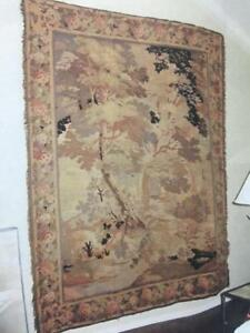 Antique French Or Flemish Verdure Wall Tapestry 17th 18th Century 103 X 82