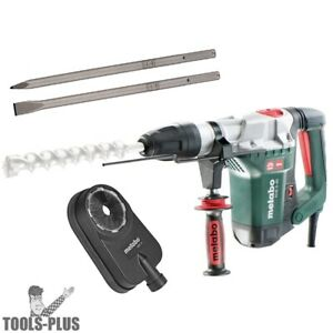 Metabo Khe5 40 10a Sds max 1 9 16 Rotary Hammer W dust Accessory 2 Chisels New