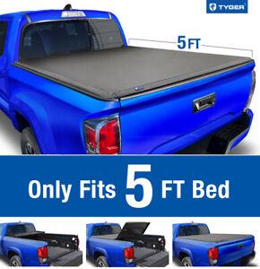Fit 2019 Toyota Tacoma 5ft Bed Tyger T3 Tri fold Tonneau Cover