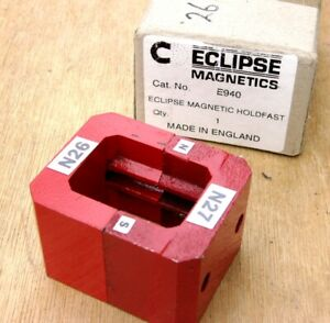 2 Eclipse Alnico 5 Horseshoe Power Magnets Red 13 5 Oz Each Holdfast