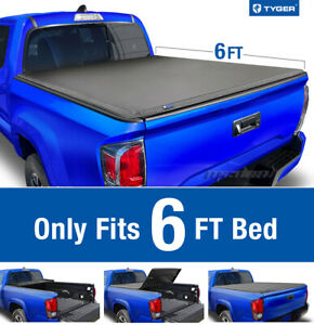 Tyger T3 Tri fold Tonneau Cover For 2019 Toyota Tacoma 6ft 72in Bed