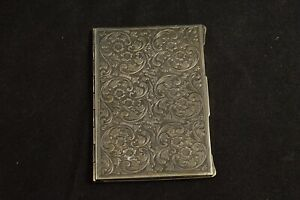 Sterling Scroll Etched Folding Picture Frame Case Fine Silver 02
