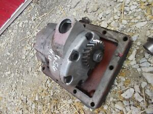 Farmall 656 Utility High Rc Tractor Ih Cessna Good Working Hydraulic Pump Cover