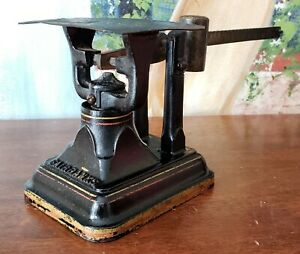 Antique Fairbanks Postal Scale Embossed Soldered Iron Brass 1880 S
