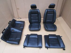 05 09 Mustang Black Leather Seats Front And Rear Oem 4 0 V 6 2005 2007 2008