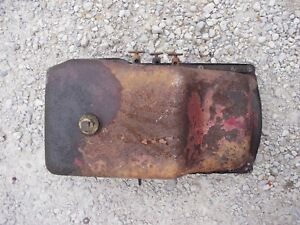 Mccormick Farmall F12 Tractor Ih Engine Motor Oil Pan 3 Pet Cocks Plug