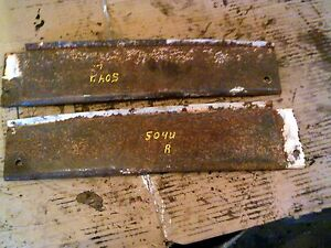 Farmall 504 Utility Tractor Ih Pair set Of 2 Short Hood Panel Panels Along Tank