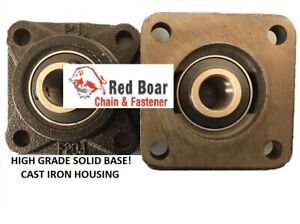 Ucf 206 18 1 1 8 4 Bolt Flange Bearing Solid Cast Iron Black Housing Qty 2