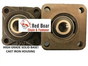 Ucf 207 23 1 7 16 4 Bolt Flange Bearing Solid Cast Iron Black Housing Qty 2