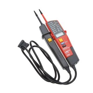Uni t Ut18c Led Digital Voltage Continuity Tester Auto Range Rcd Phase Rotation