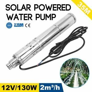 New 12v 130w 2m3 h Stainless Shell Submersible 1 Deep Well Solar Water Pump Ek