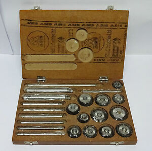 Valve Seat Face Cutter Set 12 Pcs Set For Vintage Cars Bikes In Wooden Box