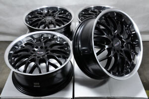 17x7 5 5x100 5x114 3 Black Wheels Fits Civic Matrix Prius Is250 G35 5 Lug Rims