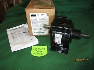 New Dayton Parallel Shaft Speed Reducer With Base 4z501 Ratio 28 1 1 1 4 Hp