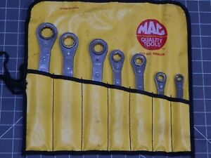 Mac Metric Double Box Ratcheting Wrench 6pc Set 7mm 21mm Rbm20k Pouch 6pt 12pt