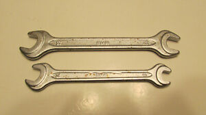 Genuine Bmw Heyco E30 325 M3 Double Open End Oem Wrench Lot 8mm 10mm