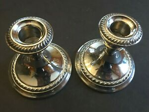 Gorham Sterling Silver Candle Holders 667 Cambridge 3 5 Tall