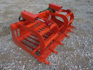 Kubota Compact Tractor Attachment 66 Rock Bucket Tooth Grapple Ship 179