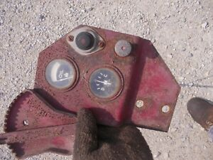 Farmall Power Unit Dash Bracket Tractor Ih Ihc Amp Oil Gauge Gauges Pull Switch