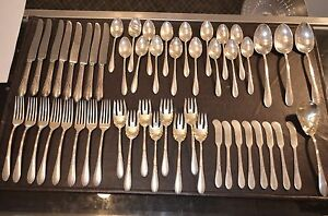 Rose Marie By Gorham Sterling Silver Flatware Set For 8 Service 52 Pieces