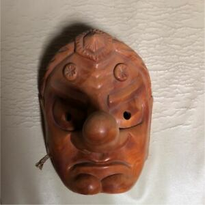 21 0 Cm Vintage Japanese Wooden Hand Carving Sculpture Traditional Mask Tengu C4