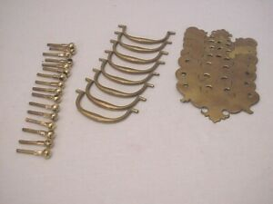 Antique Chippendale Brass Drawer Pulls Lot Of 8