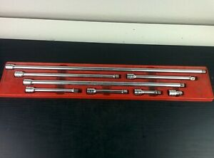 Ad303 Snap On 8pc 3 8 Drive Chrome Extension Set In Tray 1 1 2 24