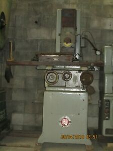 Reid Surface Grinder 618 h Pope Spindle With Walker 618 Perm Magnetic Chuck