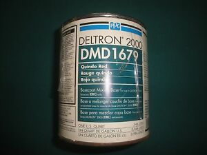 Dmd 1679 Quindo Red Ppg Deltron 2000 Universal Mixing Base Vintage Dbu Dbc