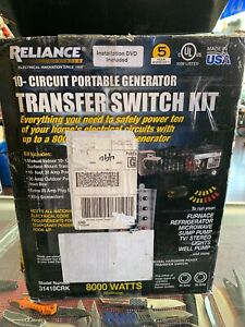 Reliance Controls 31410crk Portable 10 circuit Generator Transfer Switch Kit New