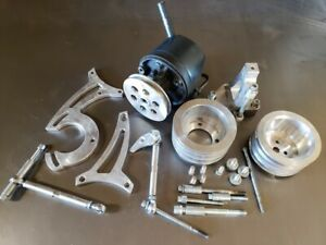 Small Block Ford 289 302 351w 3v Groove Pulley Set Ac Ps With 4 Bolt Dampener