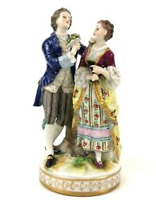 Antique Old Dresden Germany Volkstedt Porcelain Courting Couple