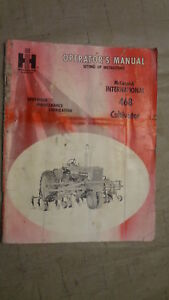Mccormick International 468 Cultivator Operators Manual