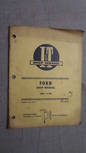 I t Ford Shop Manual Fo 25 Series 8000