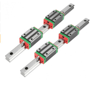 Hgh20 Square Linear Guide Rail Any Length 2pcs slide Block Carriages 4pcs