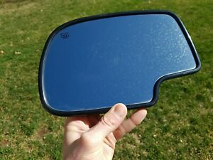 00 02 Chevy Tahoe Suburban Yukon Driver Door Mirror Glass Heated Auto Dimming H