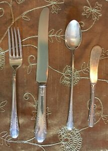 International Sterling Silver Flatware Enchantress 4 Piece Set 1937